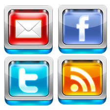 3D Social Media Icon Set PSD
