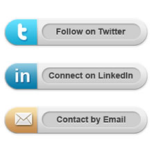 6 Rounded Social Media Icons PSD