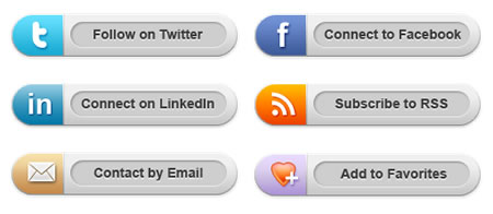 Social Media Icons PSD Download
