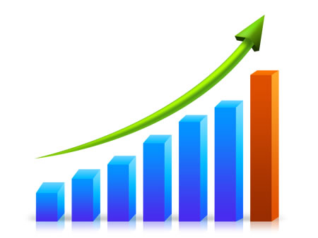 3D Growth Chart PSD Image
