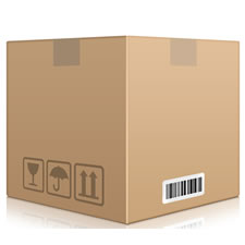 Shipping Cardboard Box PSD Icon