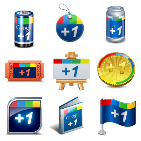 9 creative google 1 icons free image file download
