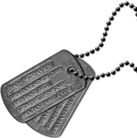 Military Dog Tag Vecto...
