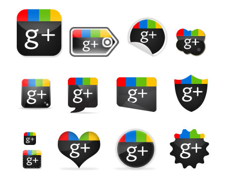 Google Plus1 Icon Set Download