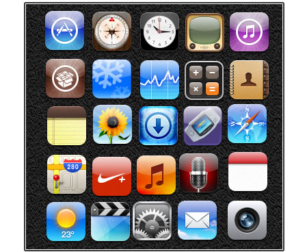 Download the 25 iPad and iPhone icons for free