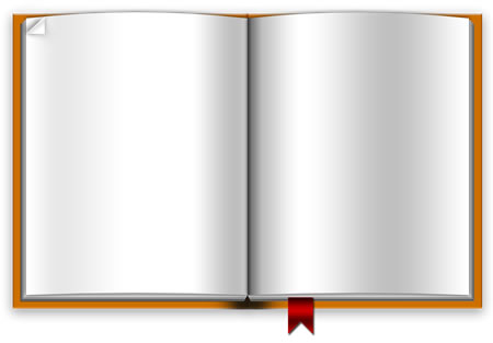 Download this blank book PSD image template for free