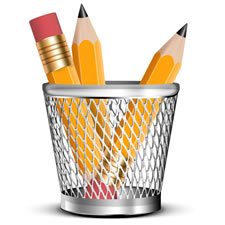 Pencil and Holder PSD Icon Image