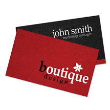 Red and Black Textured Business Card