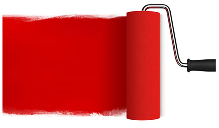 Red Paint Roller Image Download