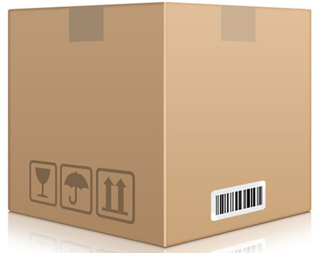 Brown Cardboard Box PSD