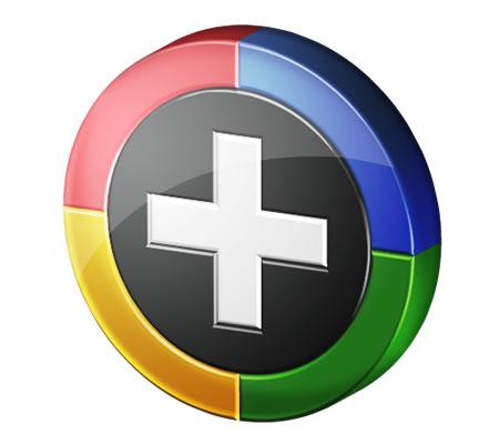 Round Google Plus 1 Icon PSD