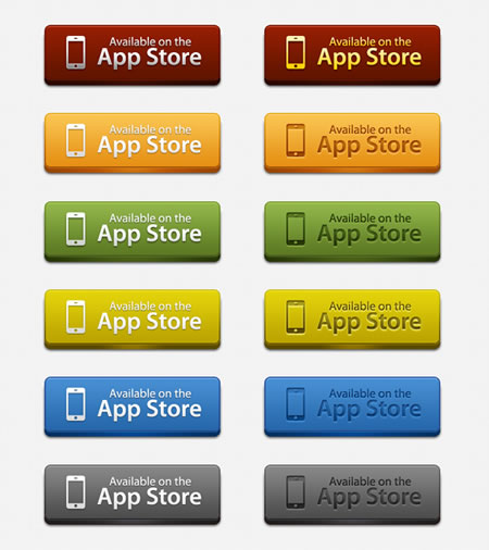 Editable  App store syle download buttons