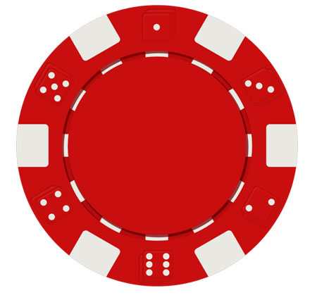 Red Poker Chip PSD Download