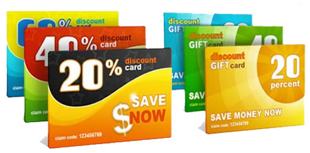 Discount Coupon Gift Cards PSD Template