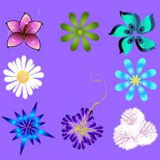 Flowers PSD Image Set
