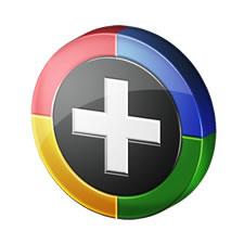 3D Google Plus Icon PSD