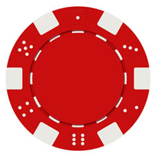 Red Poker Chip PSD