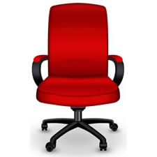 red-office-chair