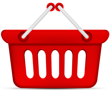 Shopping Baskest Web Icon