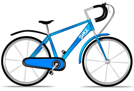 bicycle photoshop psd