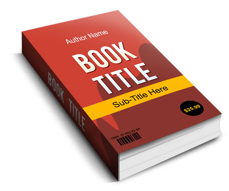 3D Hardcover book Photoshop template