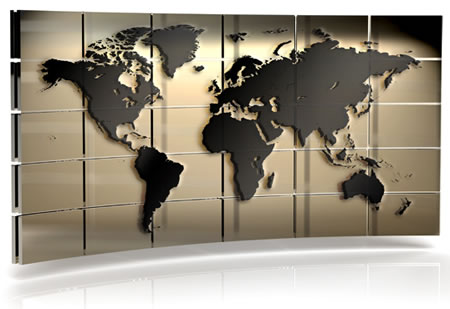 Free world map wall background image