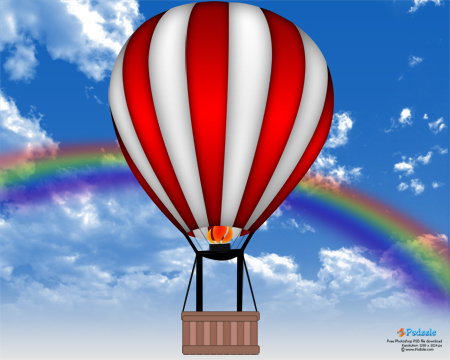 Hot air balloon for Photoshop