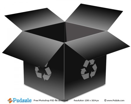 open recycle box psd