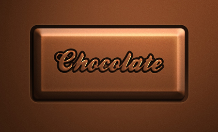 Chocolate font and text effect