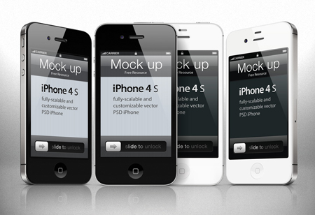 iPhone 4s Photoshop Template