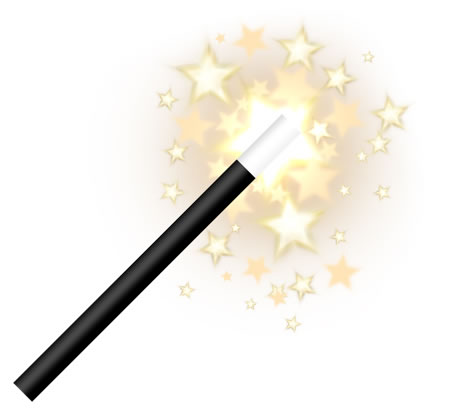 Wizard's Magic Wand Icon PSD