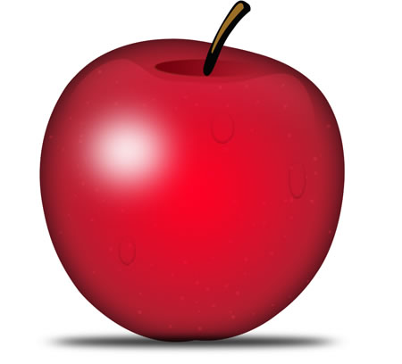 Red Apple Fruit PSD