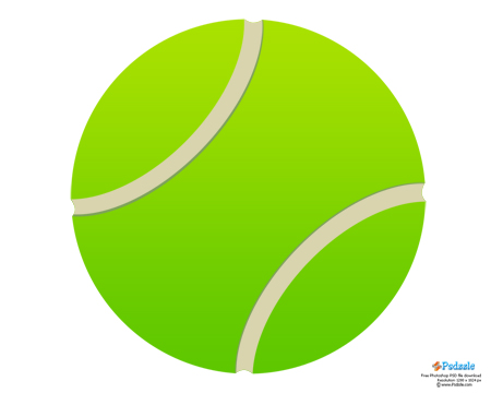 Free high resolution green tennis ball design in a fully editable ...