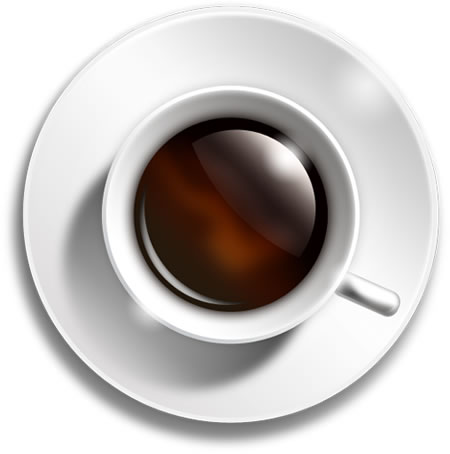 Coffee Cup Icon – Top View