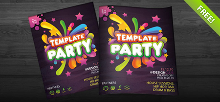 Free party flyer invitation template in a fully editable photoshop