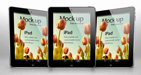 Free editable iPad Photoshop Template