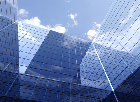 Modern Abstract Glass Building Background Image
