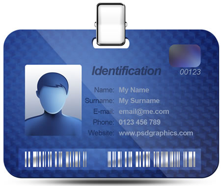 Name ID Card Template for Photoshop