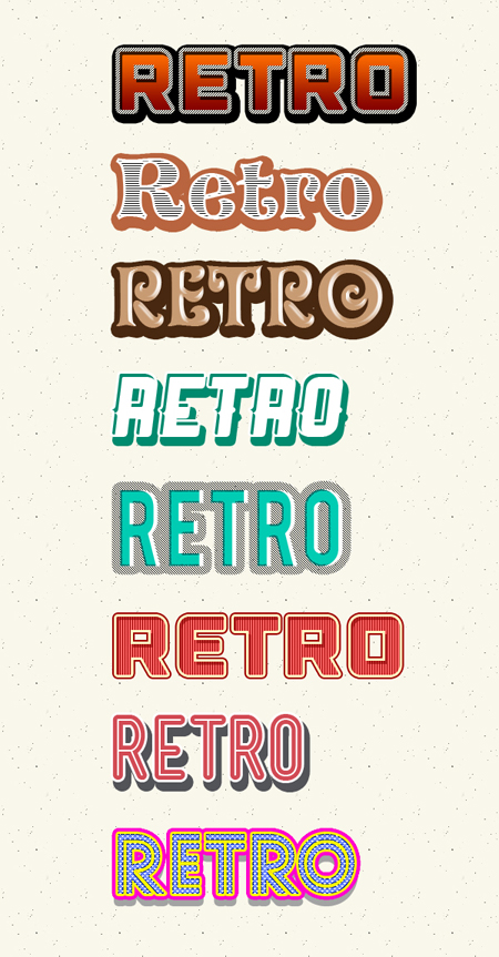 Retro and Vintage text for Photoshop