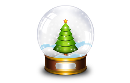 Snow Globe Photoshop Icon