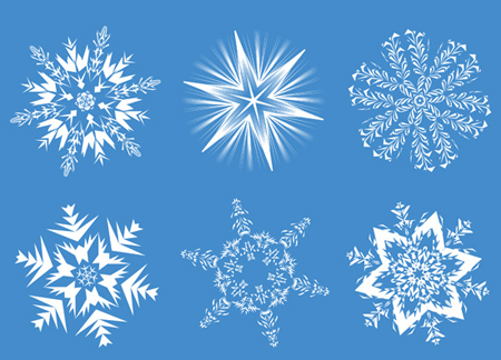 6 high quality Snowflake Images