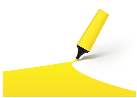 High Resolution Yellow Highlighter Background