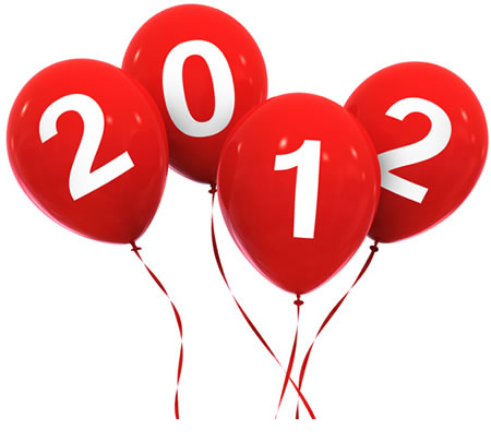 2012 Floating Happy New Year Balloons