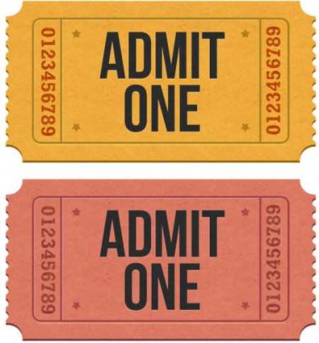 Realistic Admission Ticket Images – Theater Ticket Template