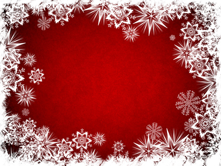 Christmas Background With Snowflake Border
