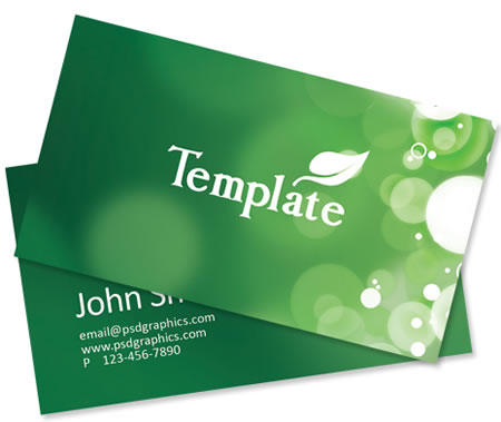 Green ECO Friendly Business Card Template