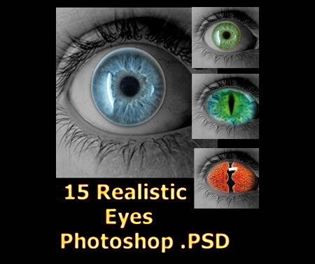 Realistic Eye Stock for Photoshop