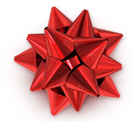 Red Gift Bow For Holidays and Celebrations