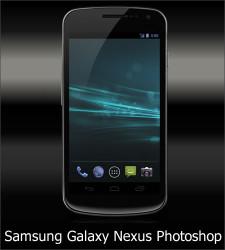 Samsung Galaxy Nexus Photoshop Template