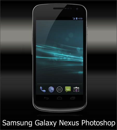 Samsung Galaxy Nexus Photoshop Template